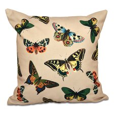 Swan Valley Butterflies Animal Outdoor Throw Pillow