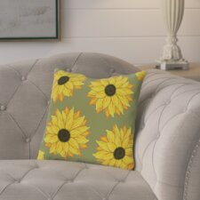 Cherokee Sunflower Power Floral Outdoor Throw Pillow