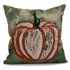 Ames Artistic Pumpkin Geometric Outdoor Throw Pillow