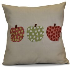 Ames 3 Little Pumpkins Geometric Outdoor Throw Pillow