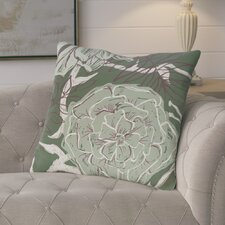 Ashley Flowers and Fronds Floral Print Outdoor Pillow