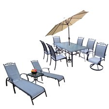 Basile 10 Piece Dining Set with Umbrella