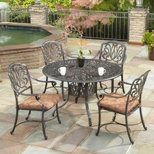 Kuna 5 Piece Dining Set with Cushions