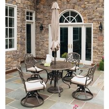 Maye 5 Piece Dining Set with Umbrella