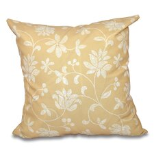 Grovetown Traditional Floral Outdoor Throw Pillow