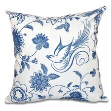 Grovetown Traditional Bird Floral Outdoor Throw Pillow