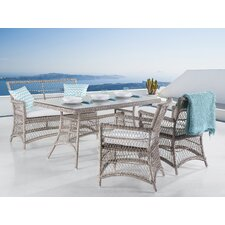 Oliveira Wicker 4 Piece Dining Set