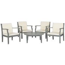 Top Reviews Sawgrass 5 Piece Lounge Seating Group with Cushions