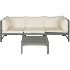 Sanibel Lynwood Modular Outdoor 4 Piece Seating Group with Cushion