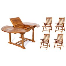 Pleasanton 5 Piece Dining Set