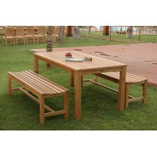 Milena 3 Piece Dining Set