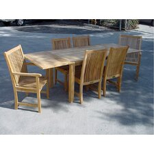 Milena 7 Piece Rectangular Extendable Dining Set