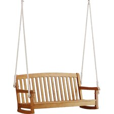 Portland Hardwood Hanging Porch Swing with Rope