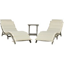 Braselton 3 Piece Lounge Set with Cushions