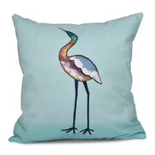 Rocio Bird Fashion Animal Print Outdoor Throw Pillow