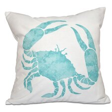 Rocio Crab Outdoor Throw Pillow