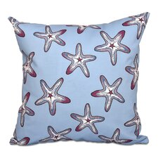 Rocio Soft Starfish Geometric Print Outdoor Throw Pillow