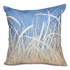 Surrey Sea Grass Floral Print Outdoor Throw Pillow