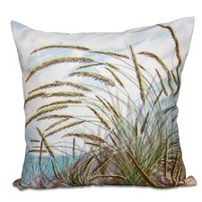 Surrey Ocean Breeze Floral Print Outdoor Throw Pillow