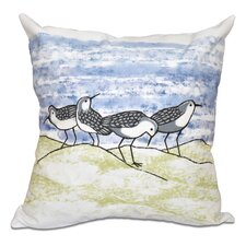 Comparison Rocio Sandpipers Outdoor Throw Pillow