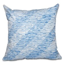Surrey Marled Knit Stripe Geometric Print Outdoor Throw Pillow