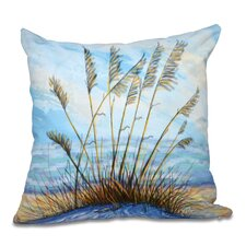 Rocio Happy Place Floral Print Outdoor Throw Pillow