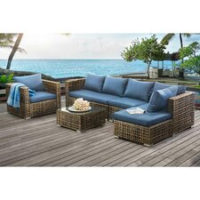 Bear River Kyle Small Space Modular 5 Piece Deep Seating Group with Cushion