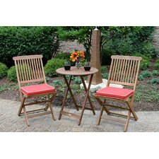 Sunny Isles Round 3 Piece Bistro Set with Cushion