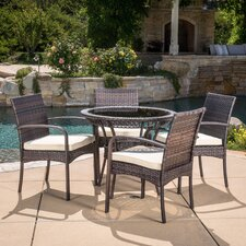 Lakewood Park  5 Piece Dining Set with Cushions