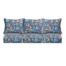 Ponce Pillow and Cushion 6 Piece Sofa Cushion