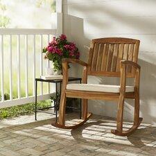 Reviews Coyne Acacia Rocking Chair with Cushion