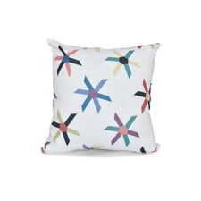 Lovely Rocio Pinwheel Pop Geometric Outdoor Throw Pillow