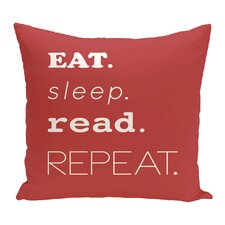Rocio My Mantra Word Outdoor Throw Pillow
