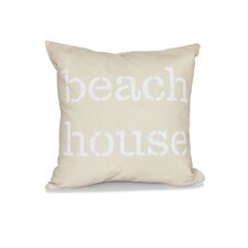 Rocio Beach House Word Outdoor Throw Pillow