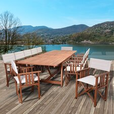 Elsmere Extendable Patio 13 Piece Dining Set