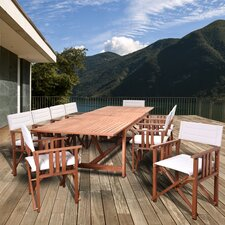 Elsmere Extendable Patio 11 Piece Dining Set
