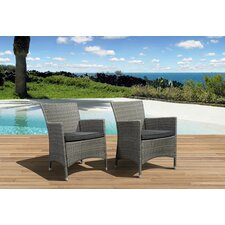 Aquia Creek Deluxe Arm Chair with Cushion (Set of 2) (Set of 2)