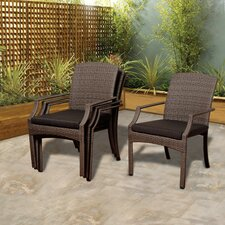 Aquia Creek Stacking Dining Arm Chair (Set of 4)