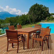 Aucklet Eucalyptus 7 Piece Dining Set