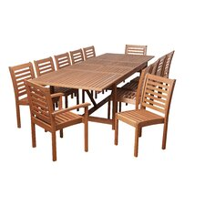 Rhode Eucalyptus 13 Piece Dining Set