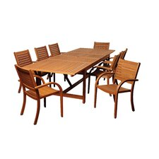 Wonderful Herring Eucalyptus 9 Piece Dining Set