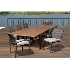 Elsmere Eucalyptus 9 Piece Dining Set with Cushion