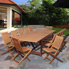 Marlin Eucalyptus 13 Piece Dining Set