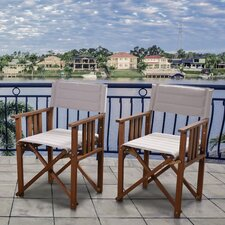 Elsmere Patio Dining Arm Chair (Set of 2)