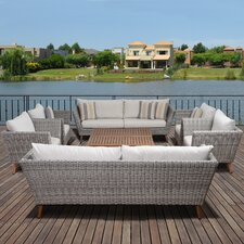 Elsmere Patio 8 Piece Deep Seating Group with Cushions