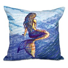 Rocio Mermaid Geometric Print Outdoor Throw Pillow