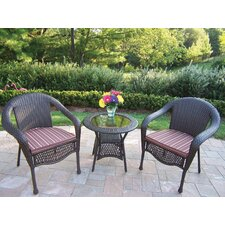 Modern Claremont 3 Piece Lounge Seating Group Set
