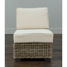 Harding Driftwood Rattan Center Chair with Cushion