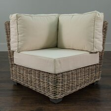 Harding Driftwood Rattan Corner Chair with Cushion