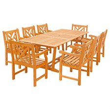 Top Reviews Lyndhurst 9 Piece Dining Set